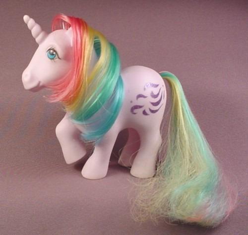 My Little Pony G1 Glory, Blue Streak, Unicorn, Blue Eyes, 1983