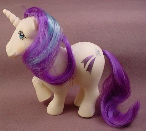 My Little Pony G1 Glory Unicorn Pony B, 1983, Symbol Is A Silver