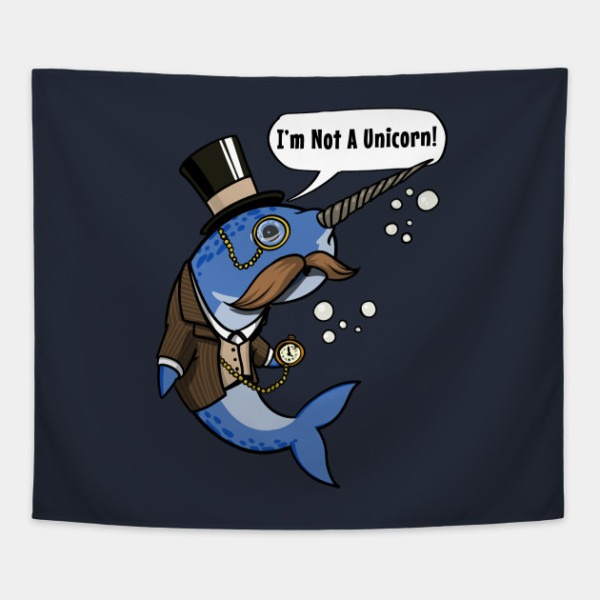 Narwhal Fish Not A Unicorn Funny Ocean Gentleman