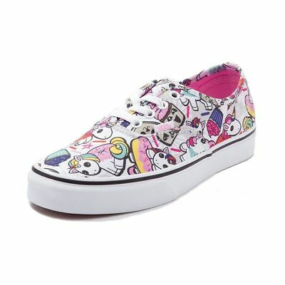 New Vans Authentic Donut Unicorns Skate Shoe White Multi Color All