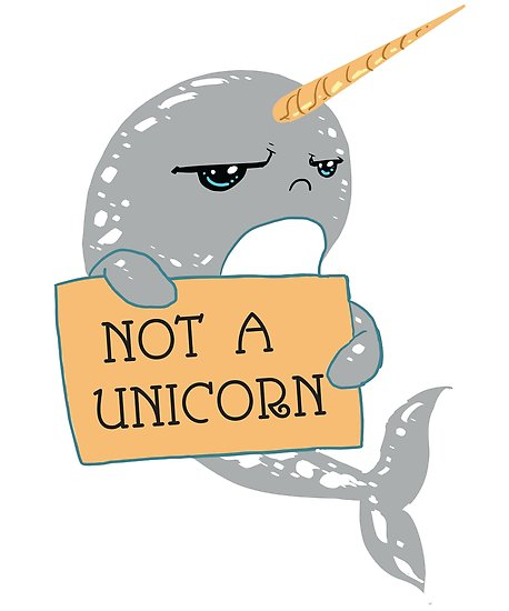 Not A Unicorn Narwhal  Poster By Fatamyfan1