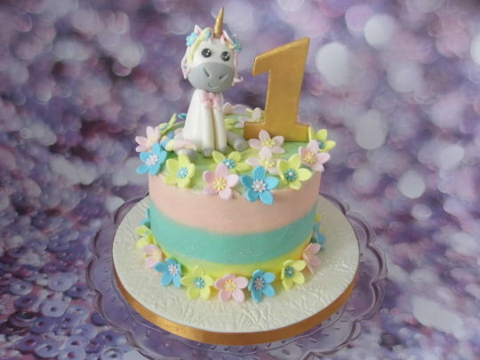 Pastel Buttercream Unicorn Cake