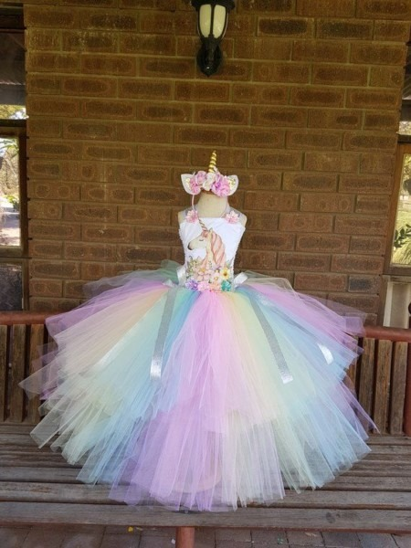 Pastel Unicorn Tutu Dresses Birthday Girl