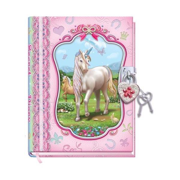 Pecoware Unicorn Diary With Lock