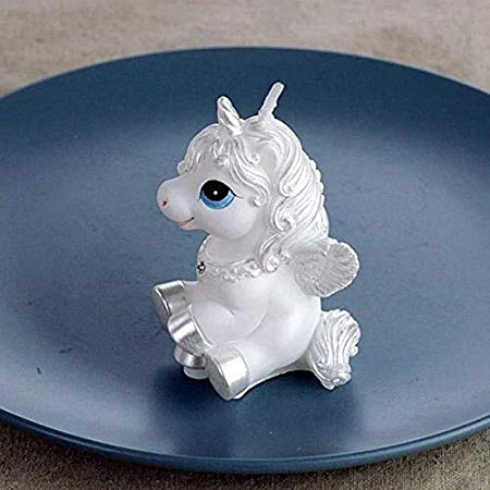 Pinzhi Unicorn Horse Kids Happy Birthday Candle Party Cake Topper