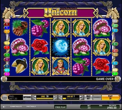 Play Enchanted Unicorn Slots Online