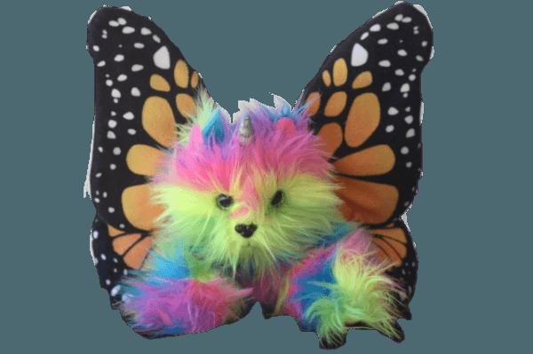 Rainbow Butterfly Unicorn Kitten Stuffed Toy Animal Plush Fun With