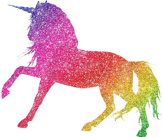 Rainbow Glitter Sparkle Unicorn   Poster By Colorflowart