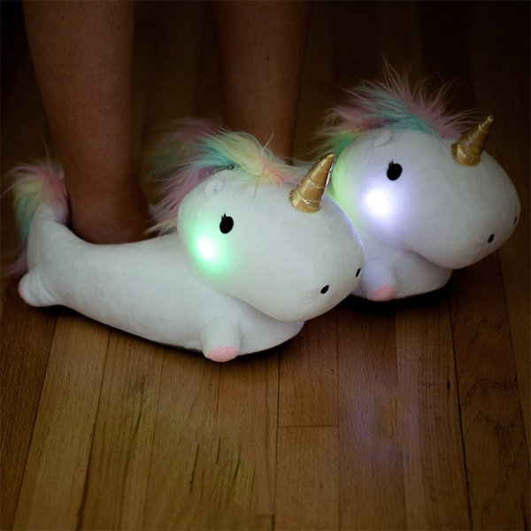 Rainbow Light Up Unicorn Slippers   Ofcoursethatsathing