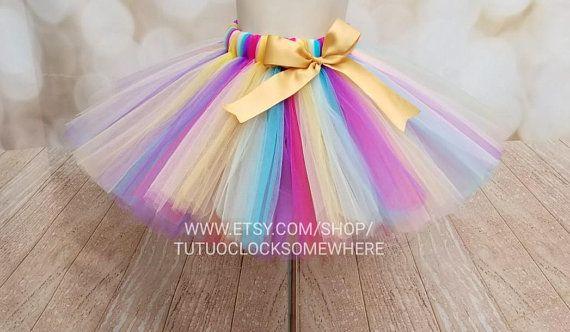 Rainbow Tutu Lgbtq Unicorn Circus Clown Colorful Neon Summer Cake