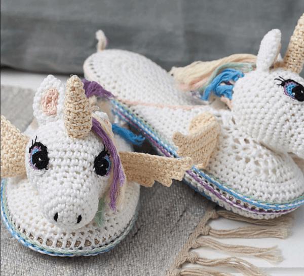 Ravelry  Unicorn Slippers Pattern By Hannah Cross