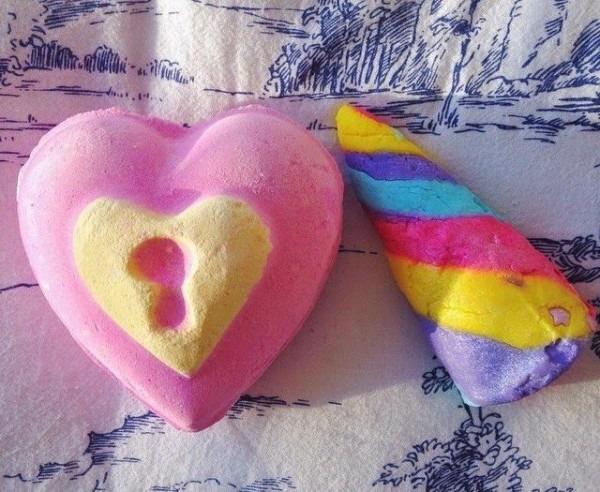 Remember Rayne  Lush Valentines, Love Locket Bath Bomb + Unicorn