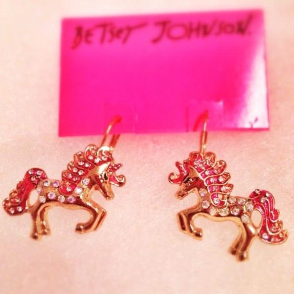Ride On, Pony  Betseyjohnson  Unicorns  Earrings  Pink  Jewelry