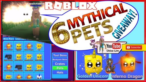 Roblox Mining Simulator Gameplay! 6 Mythical Pets Giveaway  3