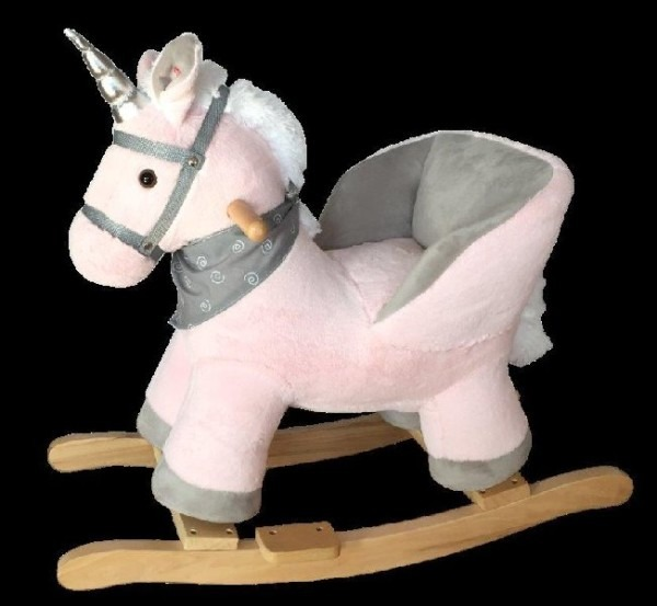 Rocking Unicorn – Pink With Sound – Australian Toy Sales