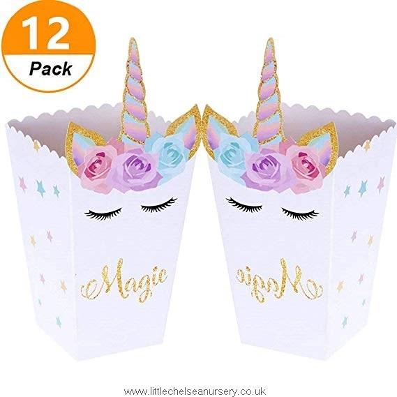 Set Of 12) Jevenis Magical Unicorn Party Favor Boxes Unicorn Party
