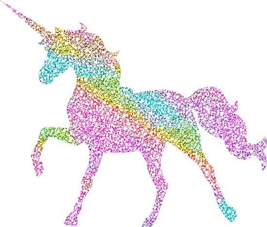 Sparkly Rainbow Unicorn  Photographic Print By Jwyly12