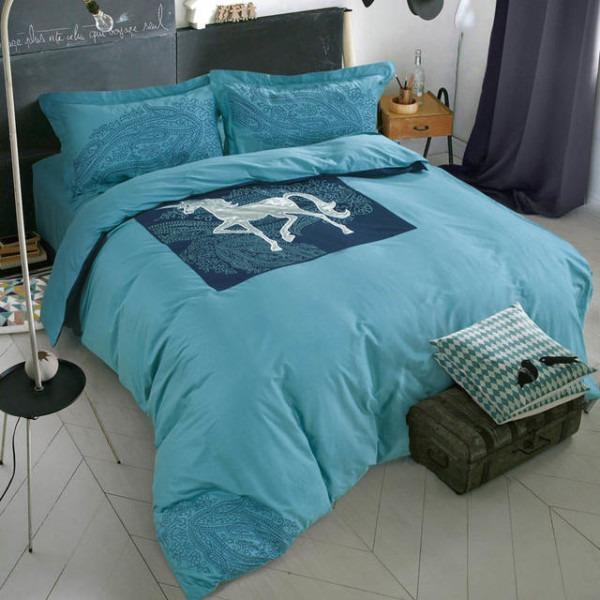 Summer Style 100  Cotton Ikea Simple Fashion 4pc Horse Bedding