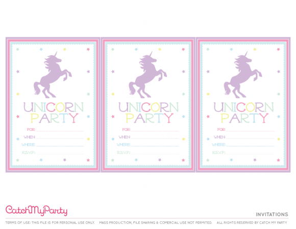 The Best Free Unicorn Birthday Party Printables
