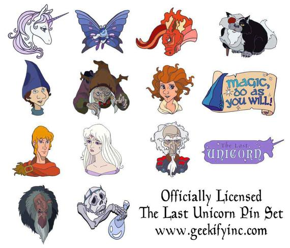 The Last Unicorn Officially Licensed Enamel Pins