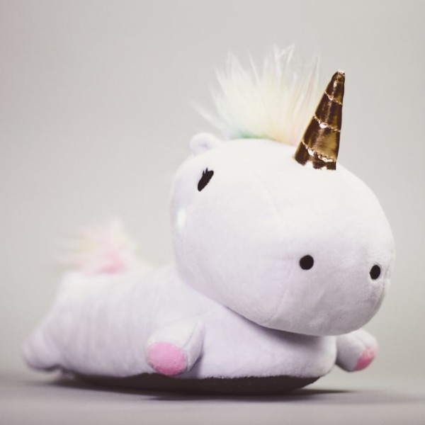 These Unicorn Slippers Light Up With Magical Colors With Each Step