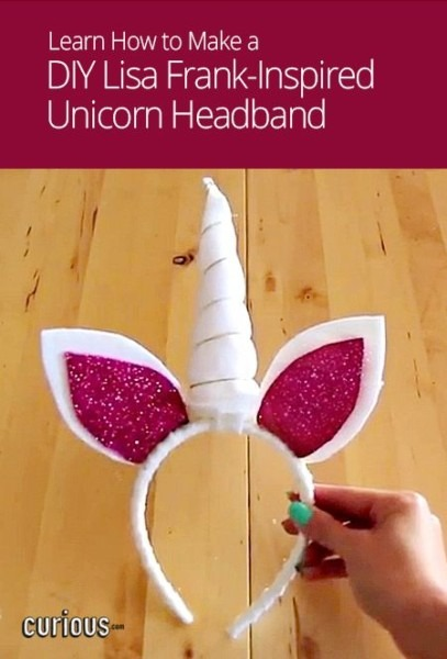 This Diy Unicorn Headband With Ears And A Horn Is Both Easy To