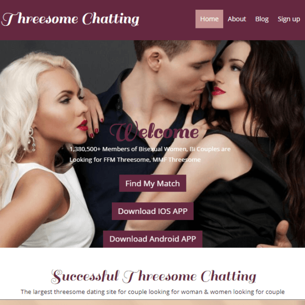 Threesomechatting Com Is The  4 Threesome Dating Site For Couple