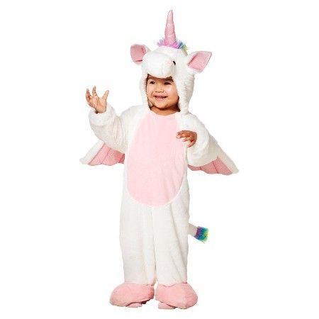 Toddler Girls' Rainbow Unicorn Plush Jumpsuit   Target