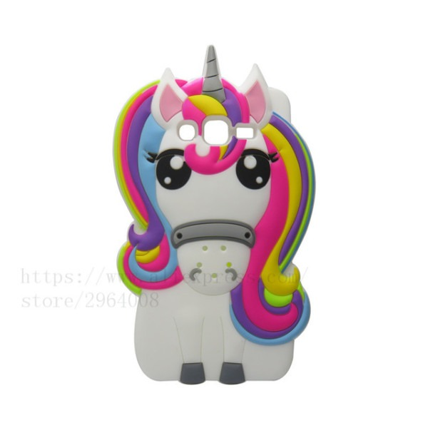 Triseoly 3d Cartoon Unicorn Rubber Case For Samsung Galaxy On5