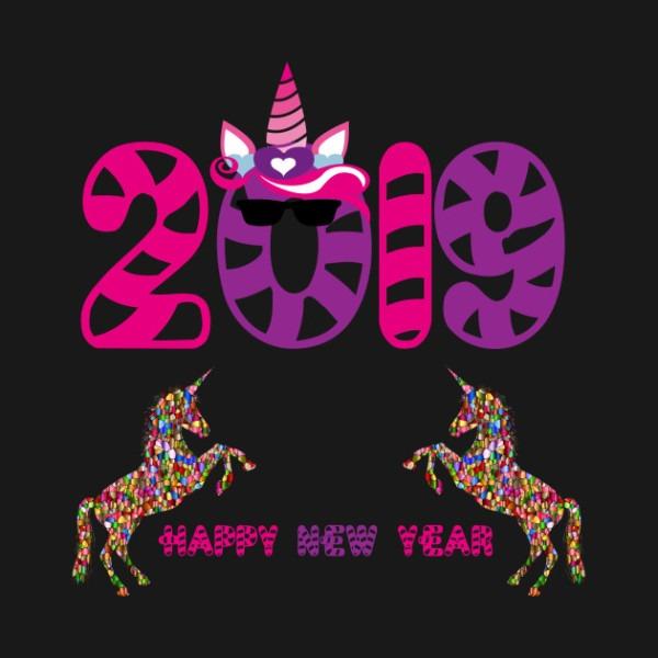 Unicorn 2019 New Year Shirt Happy New Year Unicorn Fan Gift