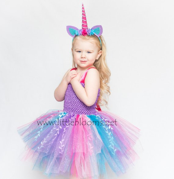Unicorn Birthday Outfit Tutu, Unicorn Headband For Girls, Unicorn