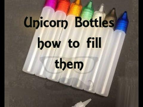 Unicorn Bottles How To Fill Them! (little Tutorial)