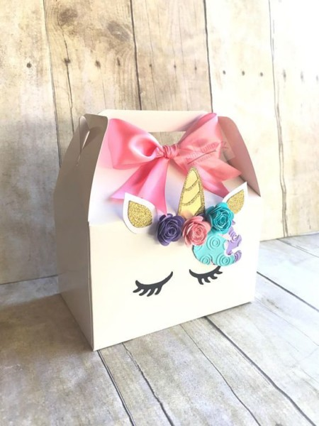Unicorn Boxes Unicorn Gable Boxes Unicorn Treat Bags Goodie