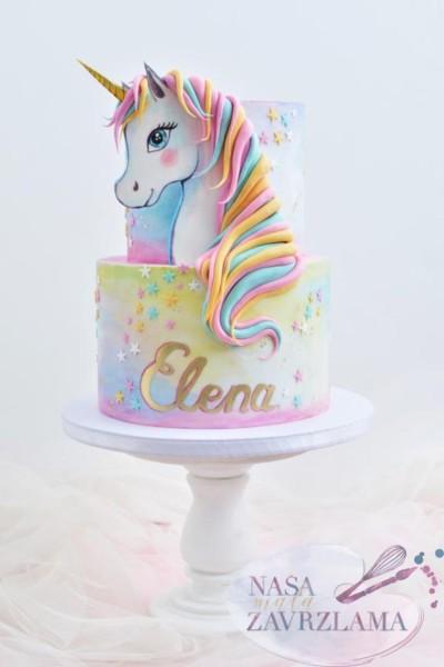 Unicorn Cake By Nasa Mala Zavrzlama On We Heart It