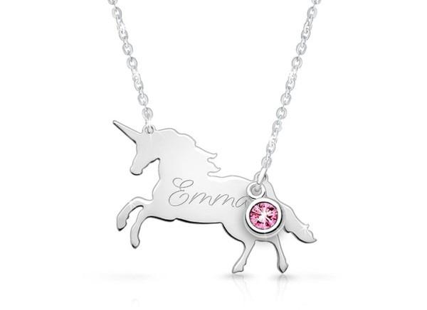 Unicorn, Engraved Children's Necklace For Girls (optional