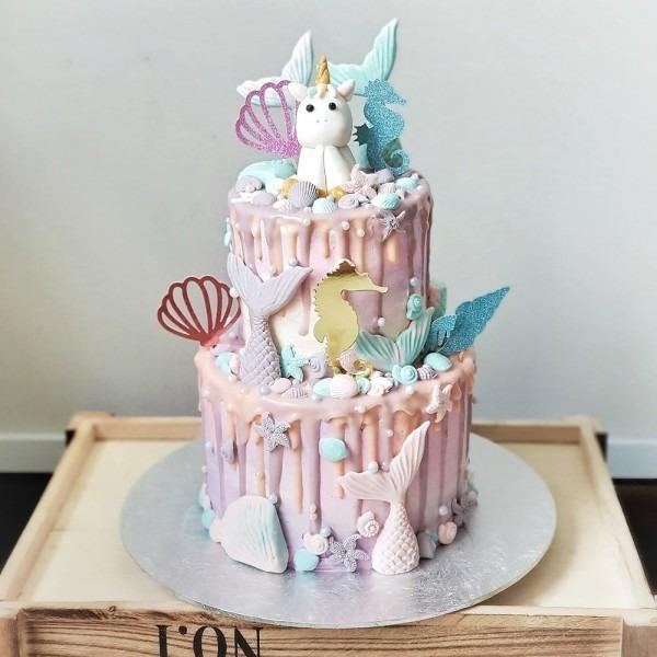 Unicorn Mermaid Dripy At $95 00 Per Cake