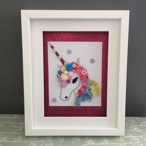Unicorn Mixed Media Box Frame