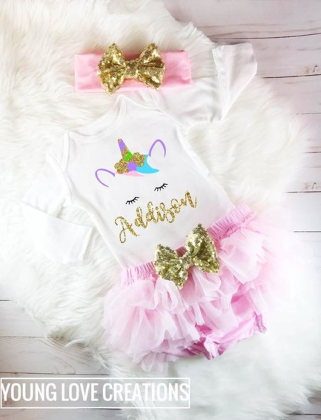 Unicorn Outfit Baby Girl Unicorn Outfit Unicorn Birthday