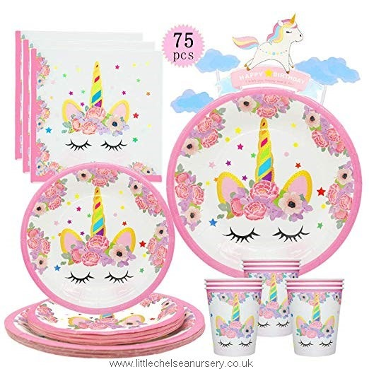 Unicorn Plates And Napkins Cups Unicorn Birthday Party Supplies