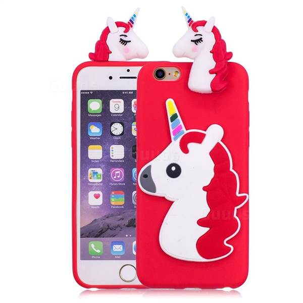Unicorn Soft 3d Silicone Case For Iphone 6s Plus   6 Plus 6p(5 5