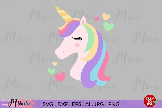 Unicorn Svg, Unicorn Head Svg, Unicorn Face, Silhouette Svg, Files