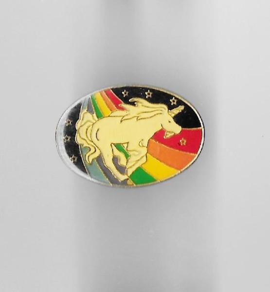 Vintage Unicorn Rainbow Enamel Pin Lapel Hat Pinback