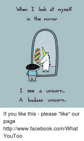 When I Look At Myself In The Mirror I See A Unicorn A Badass