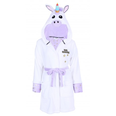 White Purple Dressing Gown For Ladies Unicorns Love To Lounge