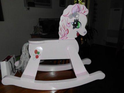 Wooden Unicorn Rocking Horse