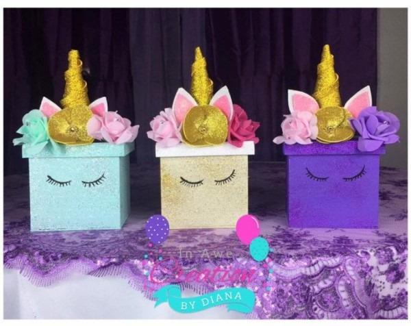 1 Unicorn Centerpiece ,happy Birthday Unicorn Centepiece, It's A