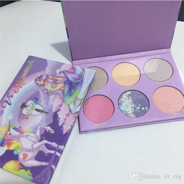 2018 Unicorn Vs Mermaid Highlighter Eyeshadow Palette Cosmetics
