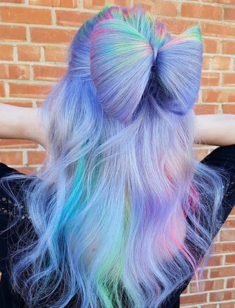 32 Best Unicorn Hair Colors With Bow Bun Styles In 2018  Explore
