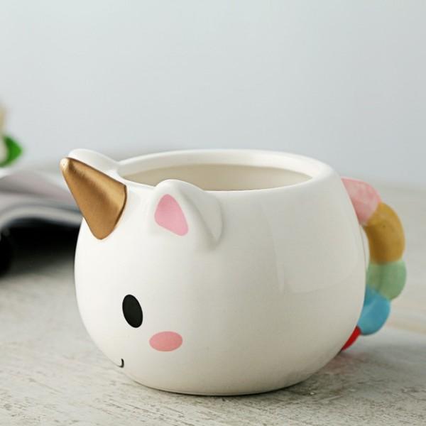 3d Cuteness Rainbow Unicorn Coffee Milk Water Mugs Cup Ceramic