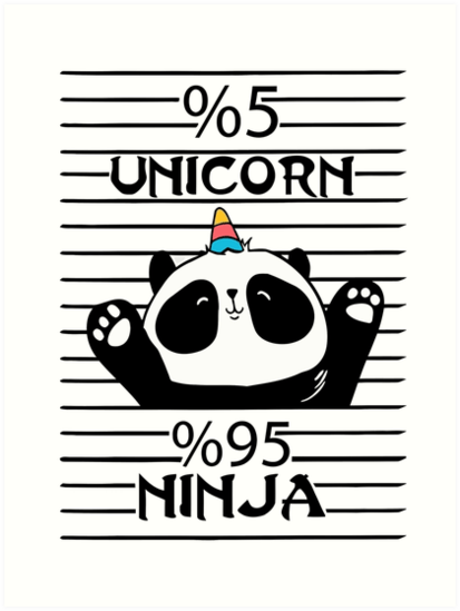 5 Unicorn 95  Ninja ,best Unicorn  Art Print By Dongodepp